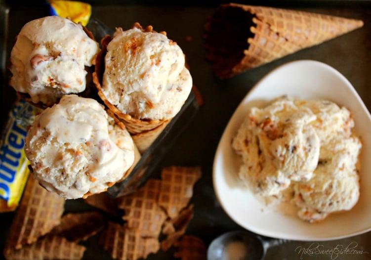 Butterfinger Ice Cream from Niki's Sweet Side