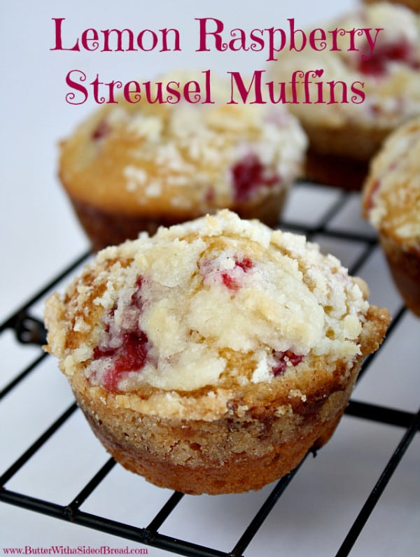 Lemon raspberry Streusel Muffins featured at Thursday's Treasures