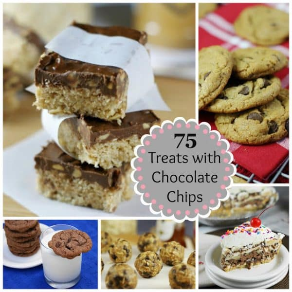 75 Treats with Chocolate Chips Round-Up from the Kitchen is my Playground featured at Thursday's Treasures