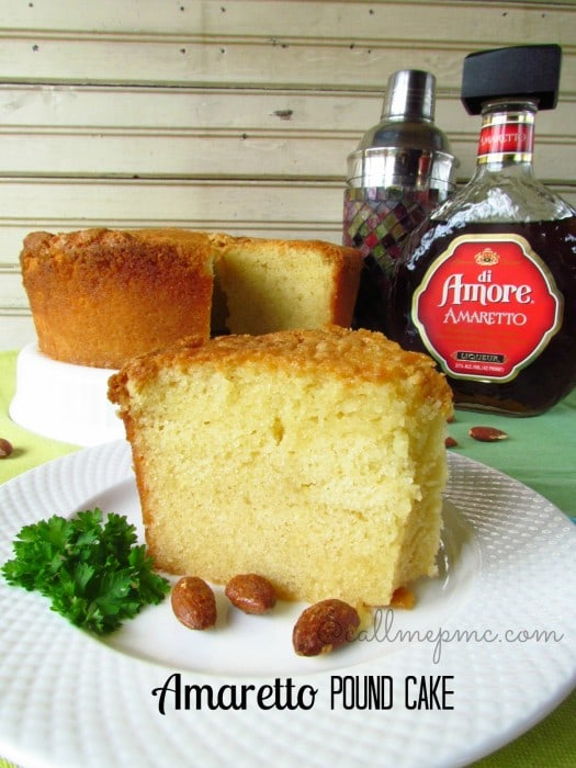 Amaretto Pound Cake from Call Me PMC featured at Thursday's Treasures