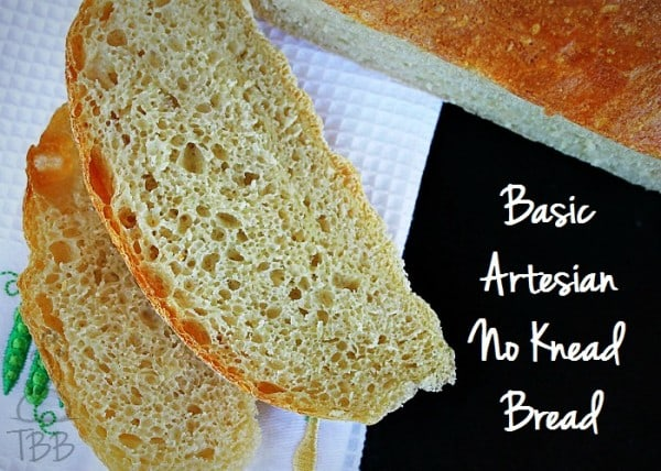 Basic Artesian No Knead Bread from True Blue Baking featured at Thursday's Treasures