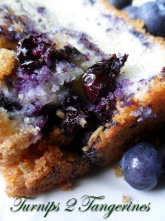 Blueberry Lemon Streusel Bread from Turnips 2 Tangerines featured at Thursday's Treasures