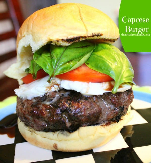 Caprese-Burger from The Ny Melrose Family featured at Thursday's Treasures