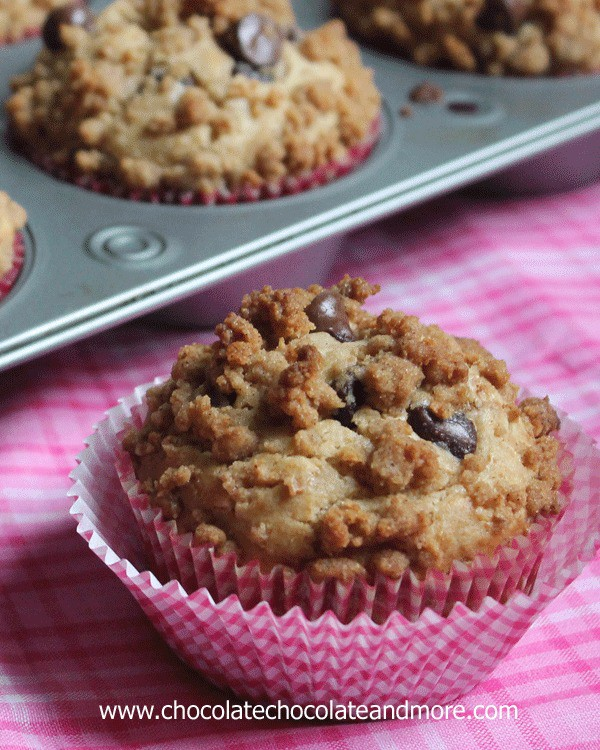 Chocolate Chip Graham Cracker Muffins, so good you'll think you're eating a cookie for breakfast!