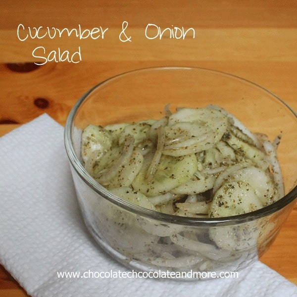 Cucumber and Onion Salad-a summer favorite, the perfect complement to any meal from sandwiches to steak.