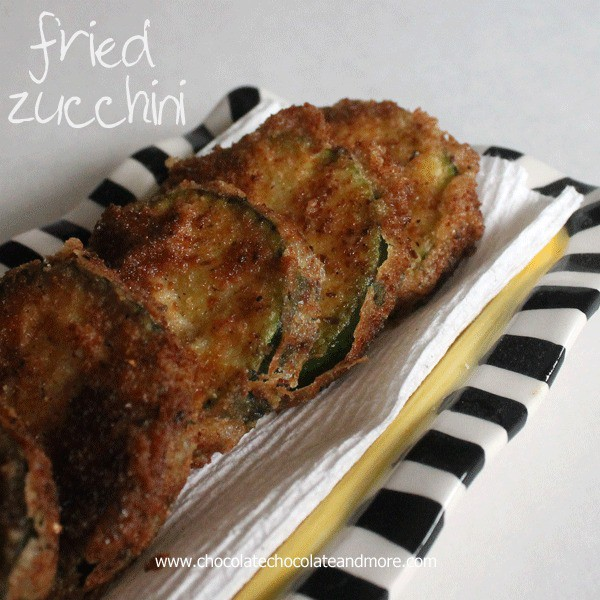 Fried Zucchini-straight from the garden, to the frying pan, to the table, to your tummy!