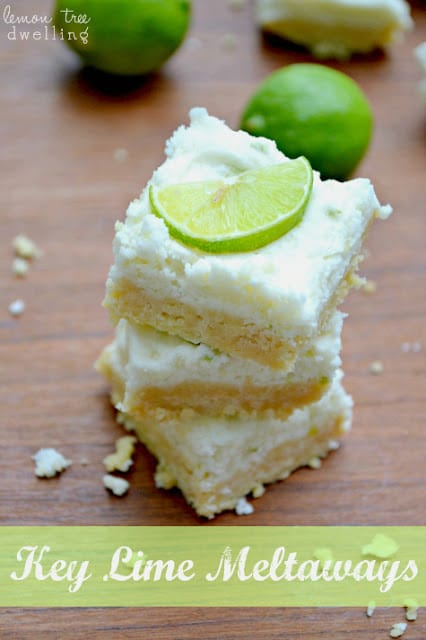 Key Lime Meltaways from Lemon Tree Dwelling featured at Thursday's Treasures