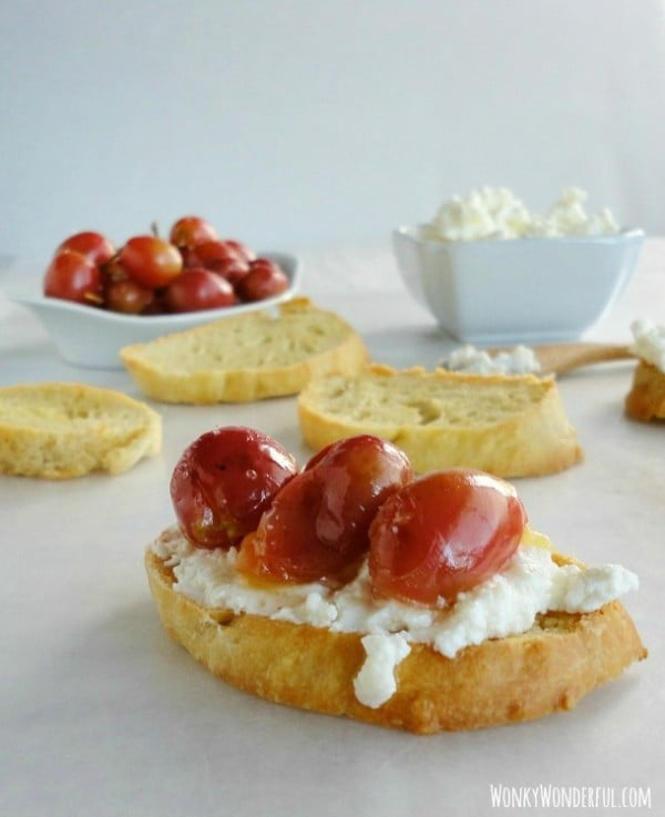 Ricotta Roasted Grapes from Wonky Wonderful featured at Thursday's Treasures