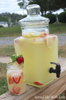 Strawberry Lemonade from Served up with Love Featured at Thursday's Treasures