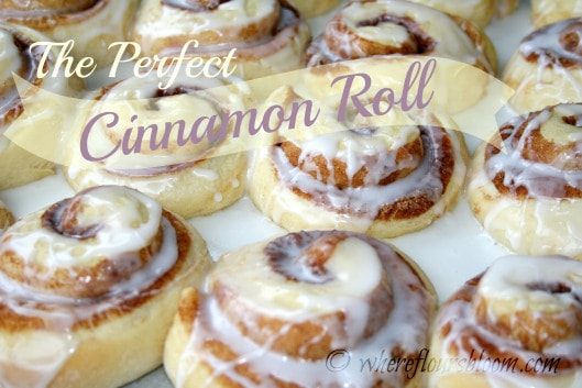 The perfect Cinnamon Roll from Where Flours Bloom featured at Thursday's Treasures