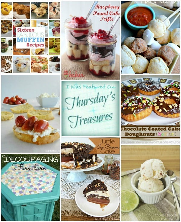 Thursday's Treasures Link Party hosted by ChocolateChocolateandmore.com