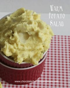 Warm Potato Salad. Great as a side dish or serve it as a dip with fritos.