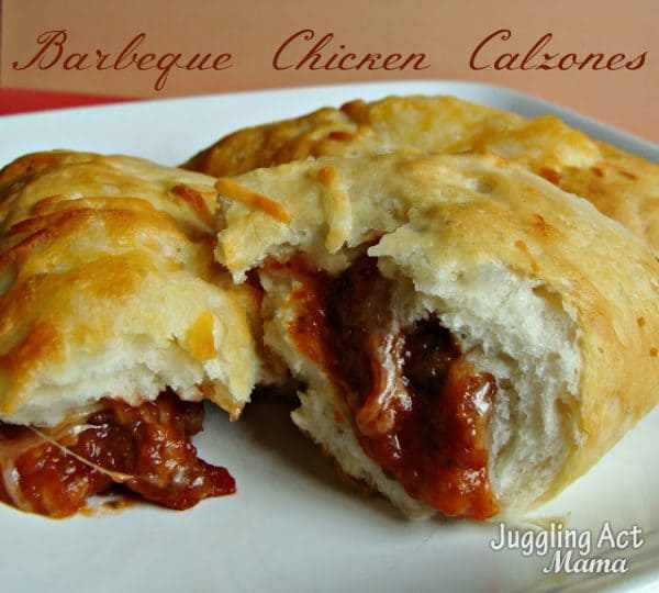 Barbeque Chicken Calzones from Juggling act Mama featured at ChocolateChocolateandmore