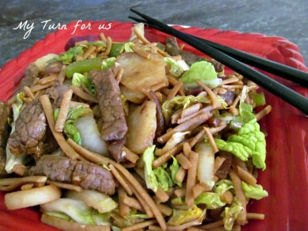 Beef Stir Fry from My Turn For Us featured at ChocolateChocolateandmore