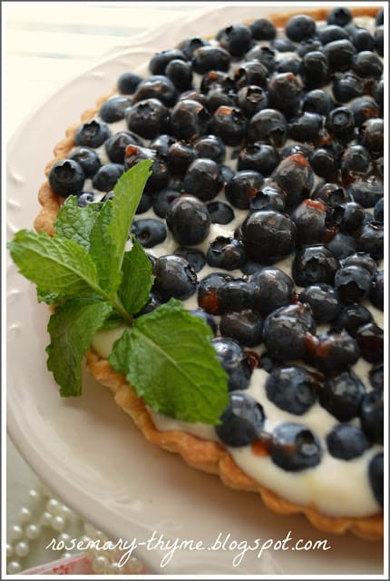 Blueberry Tart from Rosemary and Thyme featured at ChocolateChocolateandmore