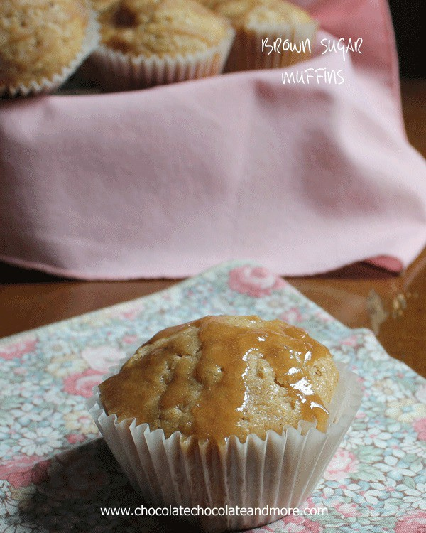 Brown Sugar Muffins-made with brown butter and cinnamon, then topped with a brown sugar glaze, these muffins will melt in your Mouth!