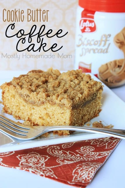 Cookie Butter Coffee Cake  from Mostly Homemade Mom featured at ChocolateChocolateandmore