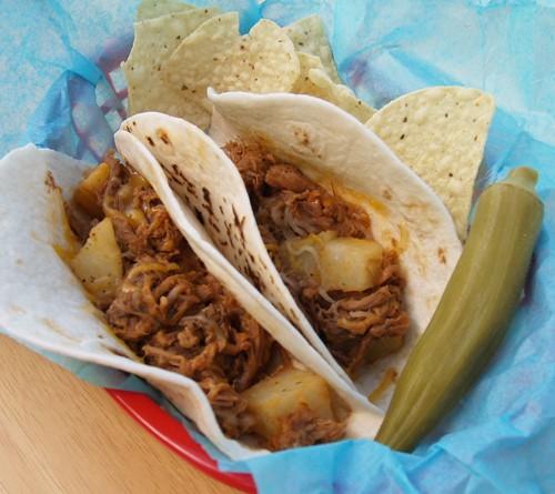 Ranchero Tacos from Kellis Retro Kitchen featured at ChocolateChocolateandmore