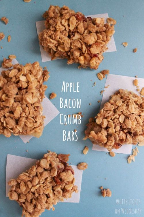 Apple Bacon Crumb Bars