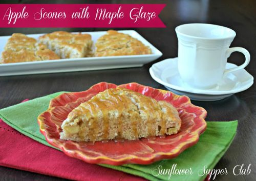 Apple Scones with Maple Glaze