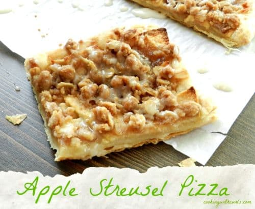 Apple Steusel Pizza