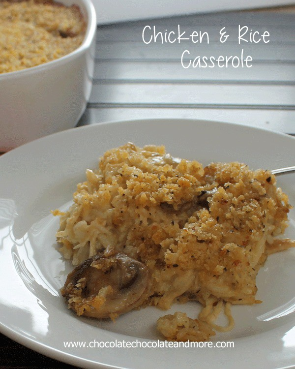 Easy Chicken and Rice Casserole-make ahead for an easy weeknight meal