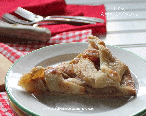 Easy Apple Crostata-great taste of an apple pie without all the fuss
