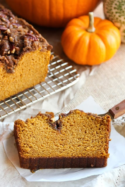 Cinnamon Topped Pumpkin Bread
