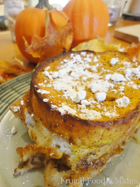 Overnight Pumpkin Pie Chai French Toast