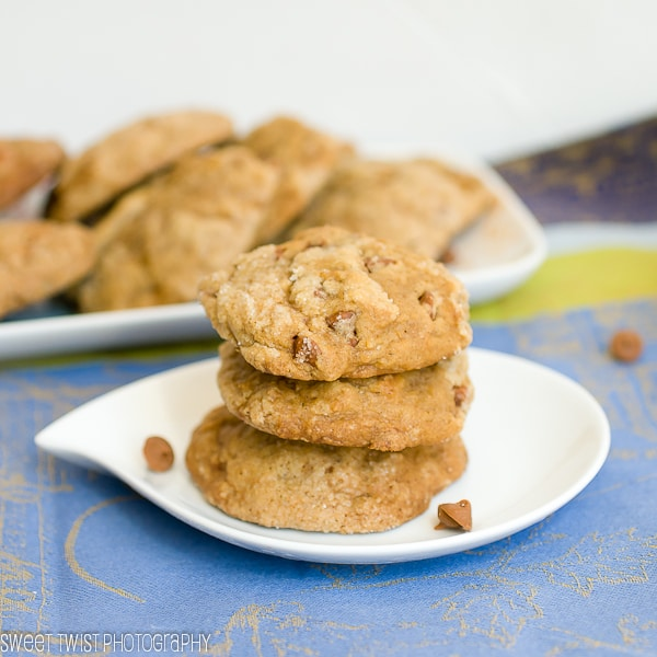 Pumpkin Ginnger Cookies with Cinnamon Chips