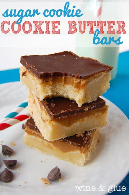 Sugar Cookie Cookie Butter Bars
