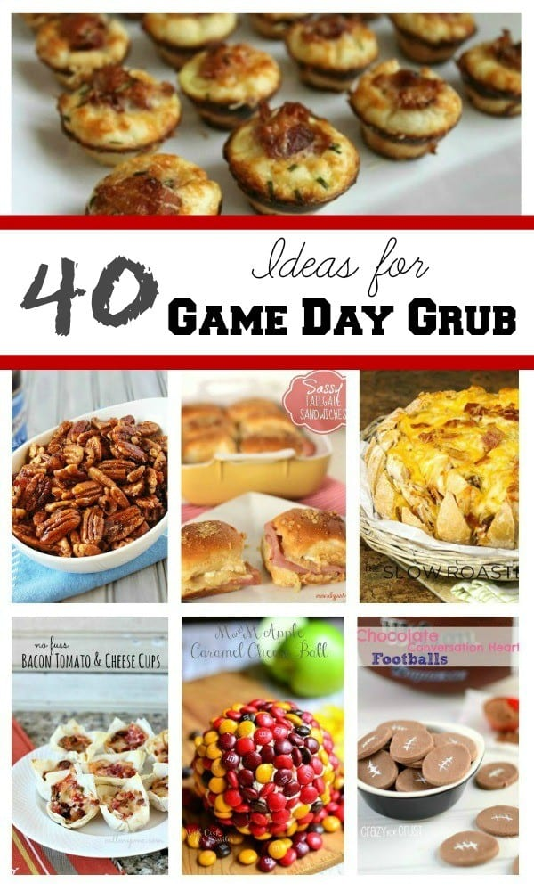40 Ideas for Game Day Grub