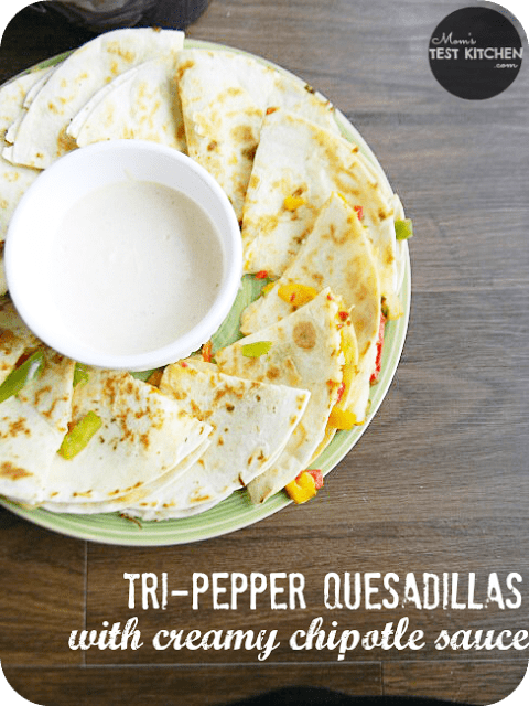 Tri-Pepper Quesdaillas