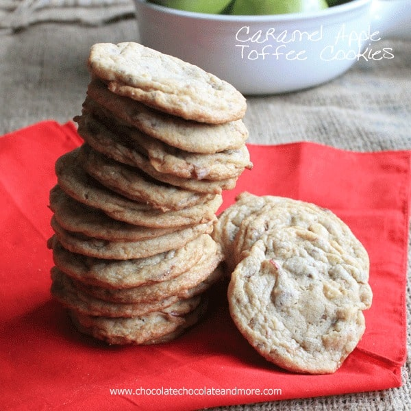 Caramel Apple Toffee Cookies