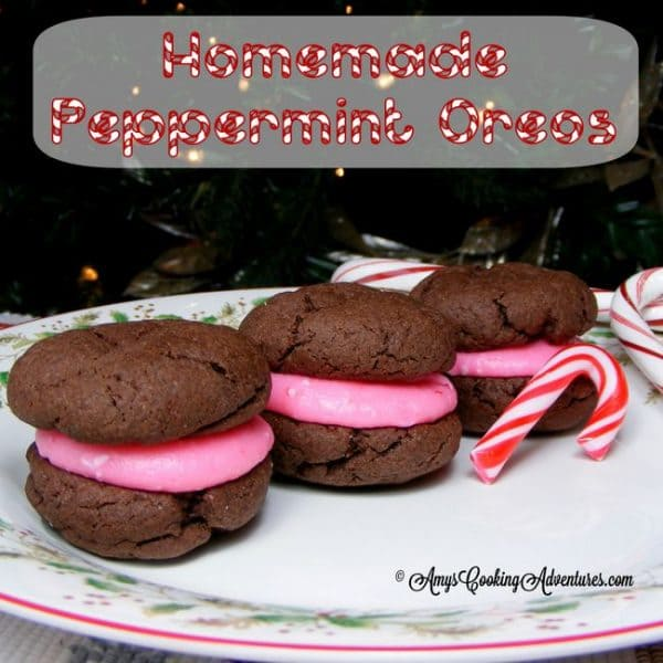 Homemade Peppermint Oreos