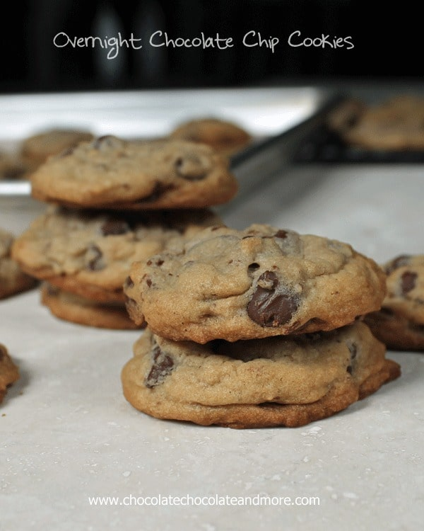 Overnight Chocolate Chip Cookies-letting the dough age does make a difference!