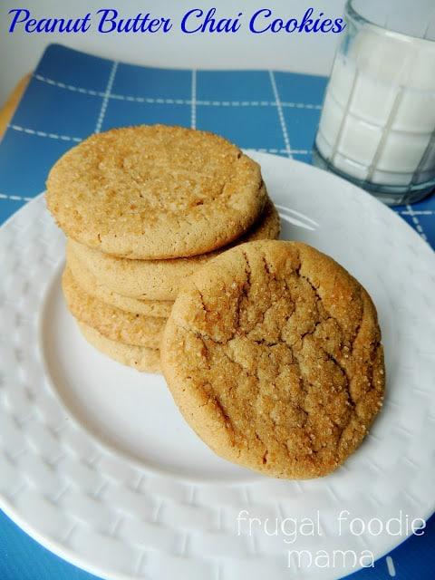 Peanut Butter Chai Cookies