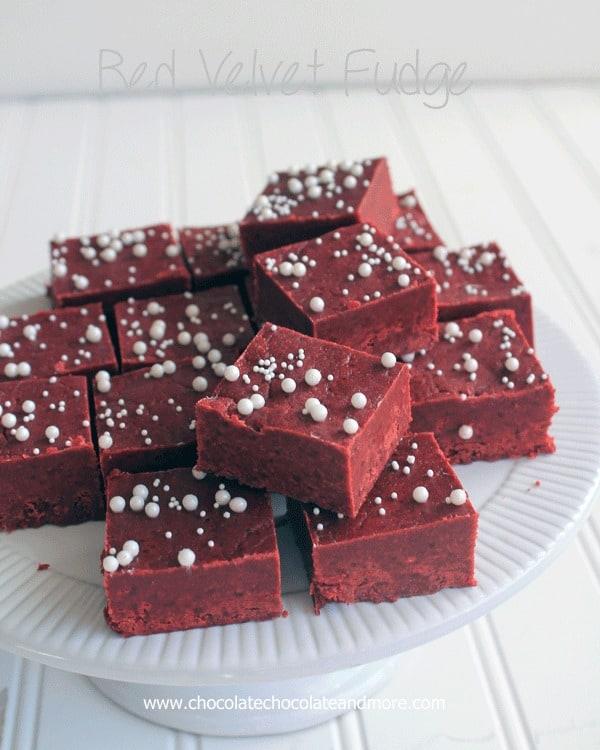 Red Velvet Cake Batter Fudge-so easy to make and even better to eat!