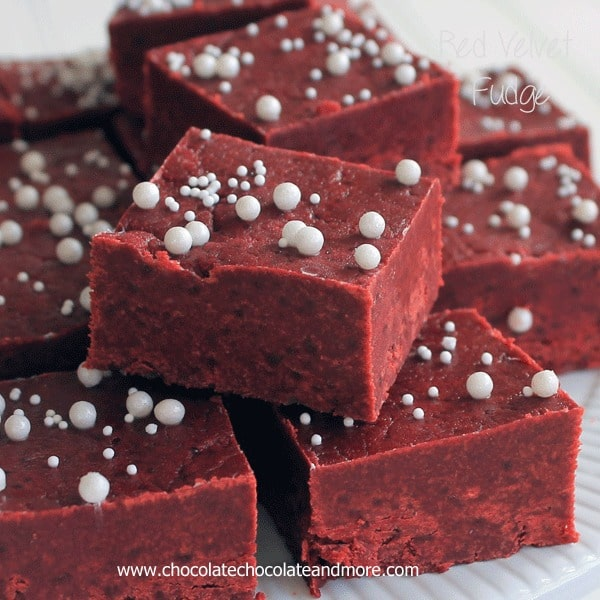 Red Velvet Cake Batter Fudge-so easy to make and even better to eat!
