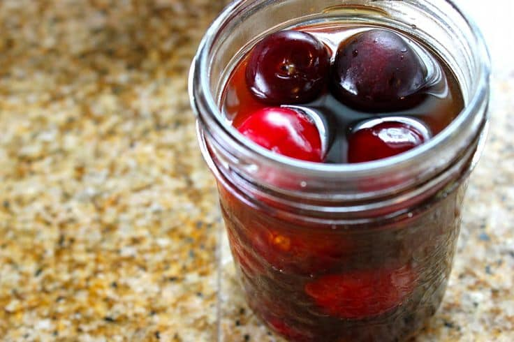 Bourbon Soaked Cherries from She Eats
