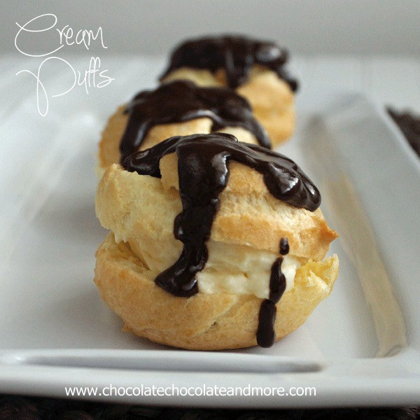Cream Puffs with Chocolate Ganache-just let everyone else think they are hard to make!