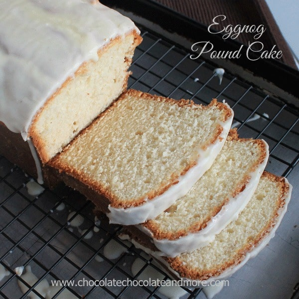 Eggnog Pound Cake with an Eggnog Glaze!