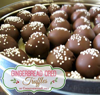 Gingerbread Oreo Truffles