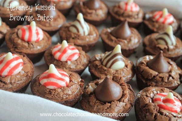 Hershey Kissed Brownie Bites Chocolate Chocolate And More