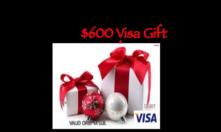 Holiday Cheer $600 Visa Gift Card Giveaway