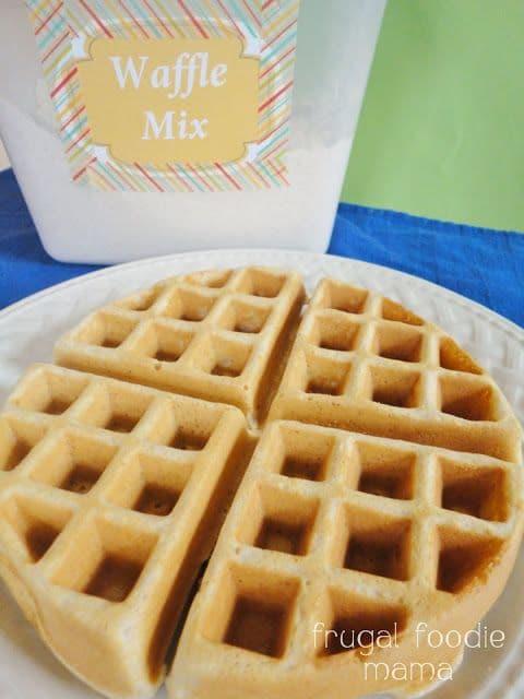 Homemade Belgian Waffle Mix