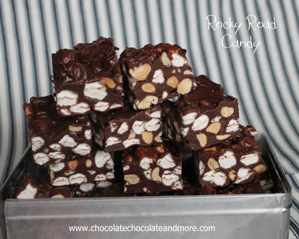 Microwave Rocky Road Candy-Peanuts marshmallows and Chocolate, how can it be wrong?