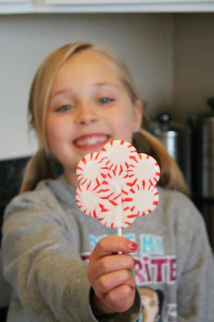 Peppermint Lollipops