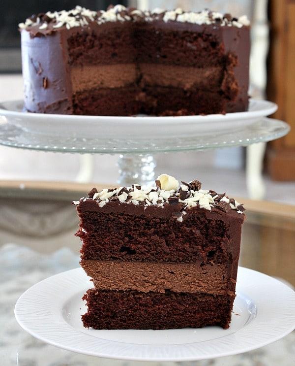 Chocolate Cheesecake Cake from Recipegirl