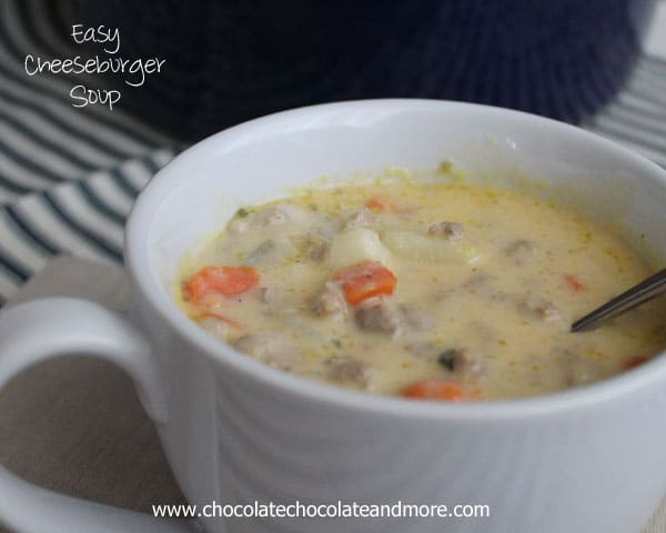 Easy Cheeseburger Soup-perfect for a cold day!
